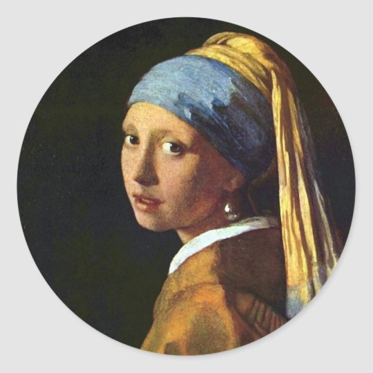 NETHERLANDS--Vermeer: Girl with the Pearl Earring Classic Round Sticker