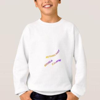 Netherlands world country,  colorful text art sweatshirt