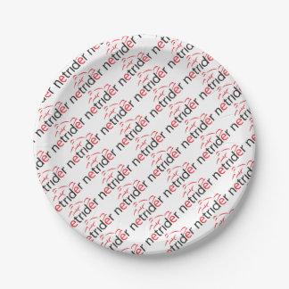 Netrider Logo Paper Plate
