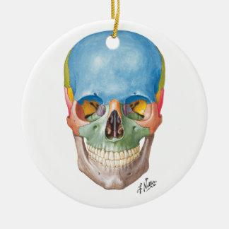 Netter Skull for your Christmas Tree Round Ceramic Ornament