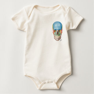 Netter Skull on a Baby one-piece Baby Bodysuit