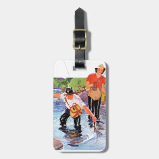 Netting A Fish by R.J. Cavaliere Travel Bag Tag