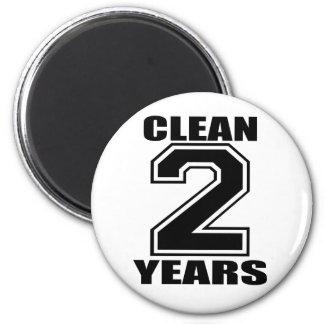 nettoyez deux ans de noir magnet rond 8 cm