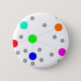 Network 2 Inch Round Button