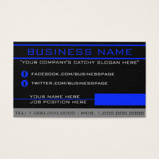 Network Blue Business Card