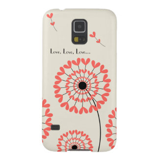Network dandelions with heart-shaped petals case for galaxy s5