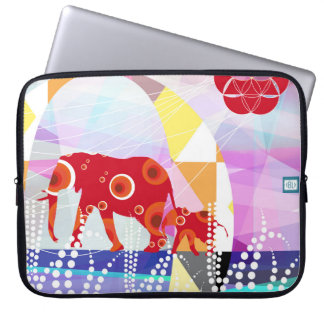Network elephants laptop sleeve
