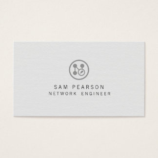 Network Engineer Network Points Icon Computer Business Card