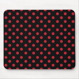 Network polka dots in black mouse pad