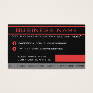 Network Red Business Card