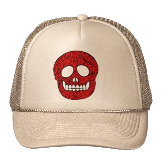 Network skull trucker hat