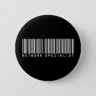 Network Specialist Bar Code 2 Inch Round Button