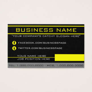 Network Yellow Business Card