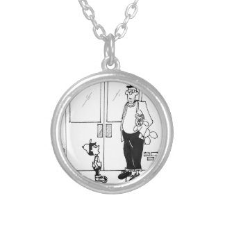 Networking Cartoon 3011 Silver Plated Necklace