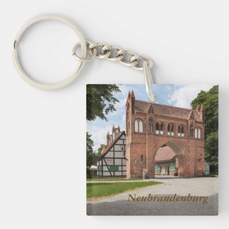 Neubrandenburg Double-Sided Square Acrylic Keychain