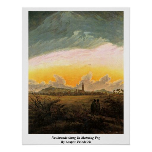 Neubrandenburg In Morning Fog By Caspar Friedrich Poster