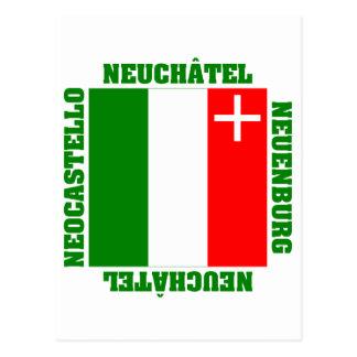 Neuchatel Switzerland Canton Flag Post Cards