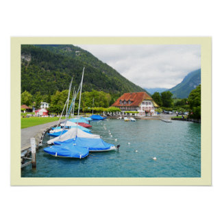 Neuhaus at Lake Thun Poster