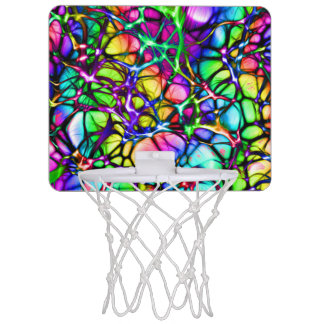 Neural Net in Spectrum Mini Basketball Hoop