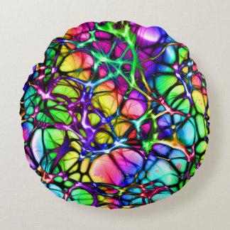 Neural Net in Spectrum Round Pillow
