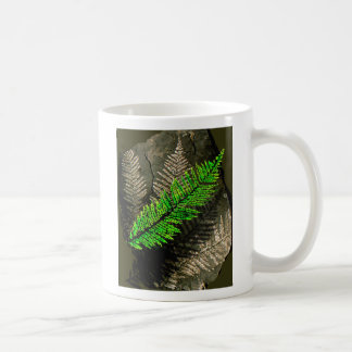 neuratt frond, neuratt fern tree carboniferous coffee mug