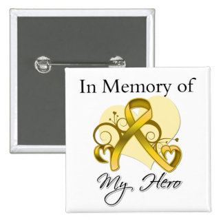 Neuroblastoma Cancer In Memory of My Hero 2 Inch Square Button