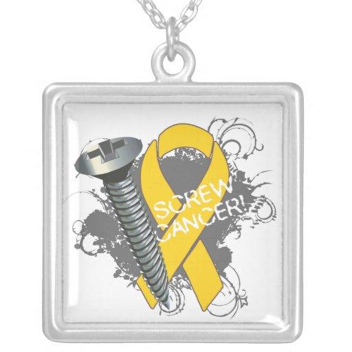 Neuroblastoma Cancer - Screw Cancer Personalized Necklace