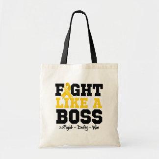 Neuroblastoma Fight Like a Boss Tote Bags