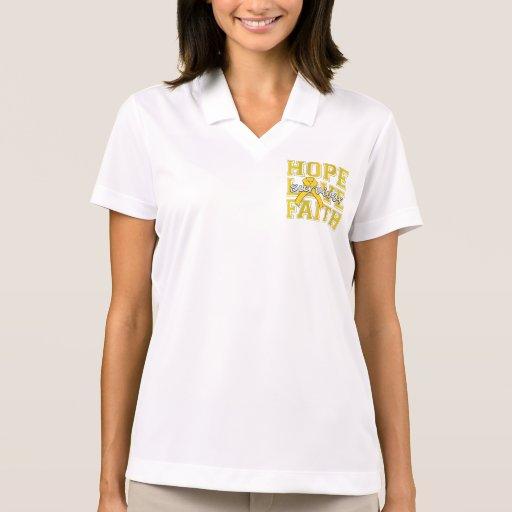 Neuroblastoma Hope Love Faith Survivor Polo Shirts