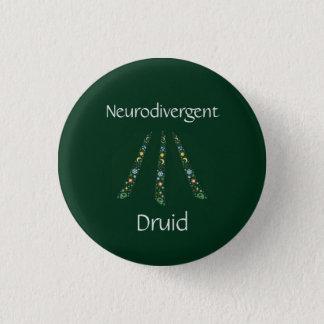 Neurodivergent Druid 1 Inch Round Button