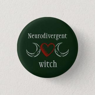 Neurodivergent witch 1 inch round button