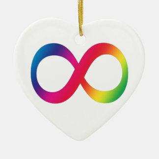 Neurodiversity Heart Simple Ceramic Ornament