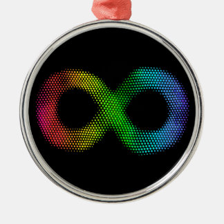 Neurodiversity Silver-Colored Round Ornament