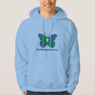 Neurofibromatosis Butterfly Awareness Ribbon Hoodie