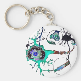 Neuron! Basic Round Button Keychain
