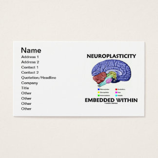 Neuroplasticity Embedded Within (Brain Anatomy) Business Card