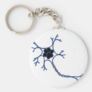NeuroWebVet Basic Round Button Keychain