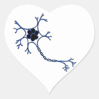 NeuroWebVet Heart Sticker