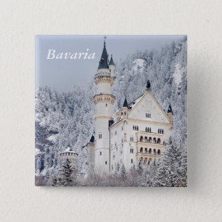 Neuschwanstein Castle 2 Inch Square Button