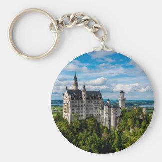 Neuschwanstein Castle - Bavaria - Germany Basic Round Button Keychain
