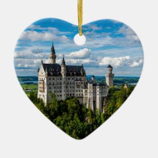 Neuschwanstein Castle - Bavaria - Germany Ceramic Heart Ornament