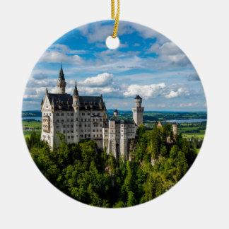 Neuschwanstein Castle - Bavaria - Germany Round Ceramic Ornament