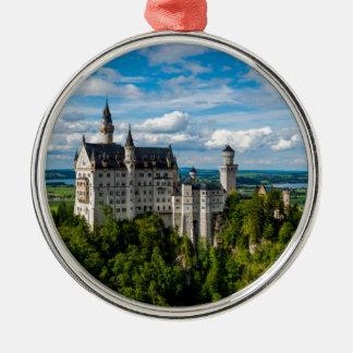 Neuschwanstein Castle - Bavaria - Germany Silver-Colored Round Ornament