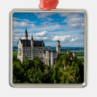 Neuschwanstein Castle - Bavaria - Germany Silver-Colored Square Ornament