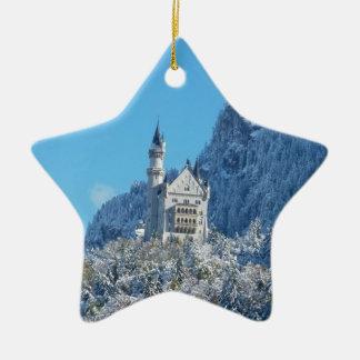 Neuschwanstein Castle, Bavarian Alps Ceramic Star Ornament