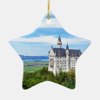 neuschwanstein castle ceramic star ornament