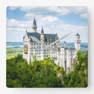 Neuschwanstein Castle Decorative Photographic Square Wall Clock