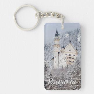 Neuschwanstein Castle Double-Sided Rectangular Acrylic Keychain