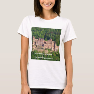 Neuschwanstein Castle Frankfurt & German Quote T-Shirt