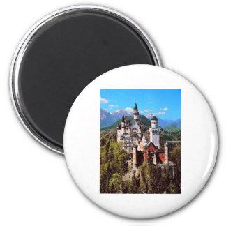 neuschwanstein castle - germany 2 inch round magnet